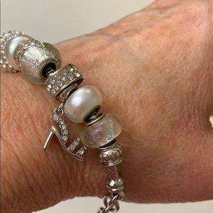 Jewelry - Silver and white bracelet